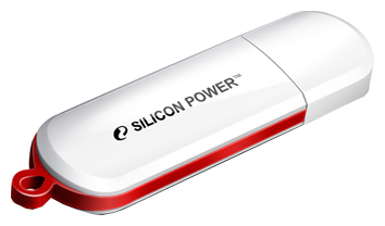 USB Flash накопитель 8Gb Silicon Power LuxMini 320 White (SP008GBUF2320V1W)