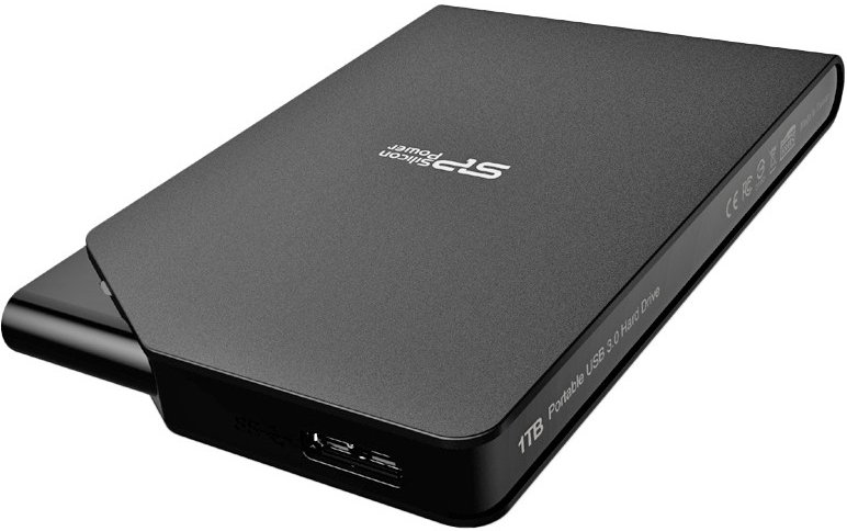 Внешний жесткий диск 1Tb Silicon Power Stream S03 Black (SP010TBPHDS03S3K)