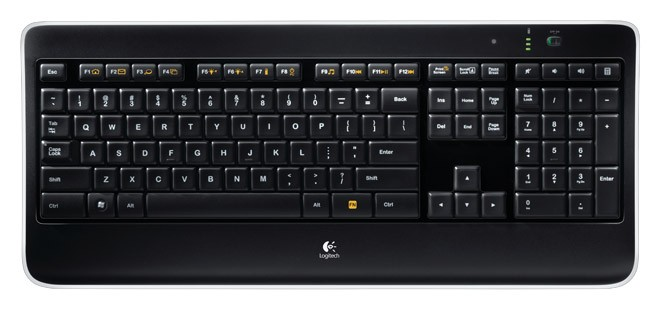 Клавиатура Logitech Wireless Illuminated Keyboard K800 Black USB