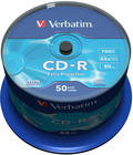 Диск CD-R Verbatim 700Mb 52x Cake Box DataLife (50шт) (43351)