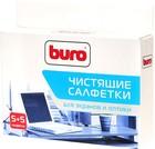 Buro чистящие универсальные салфетки, 5 шт влажных, 5 шт сухих (BU-W/D)
