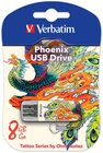 USB Flash накопитель 8Gb Verbatim Mini Tattoo Phoenix (49883)