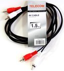 Кабель Telecom 2xRCA (M) - 2xRCA (M), 1.5м (TAV7158-1.5M)