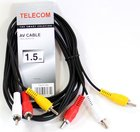 Кабель Telecom 3xRCA (M) - 3xRCA (M), 1.5м (TAV7150-1.5M)