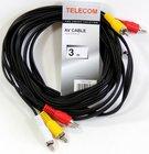 Кабель Telecom 3xRCA (M) - 3xRCA (M), 3м (TAV7150-3M)