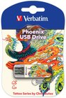 USB Flash накопитель 32Gb Verbatim Mini Tattoo Phoenix (49898)