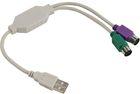 Адаптер Telecom USB - 2xPS/2 (TUS7057)