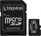 Карта памяти 16Gb MicroSD Kingston Canvas Select Plus Class 10 + SD адаптер (SDCS2/16GB)