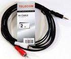 Кабель Telecom 3.5 Jack (M) - 2xRCA (M), 2м (TAV7183-2M)