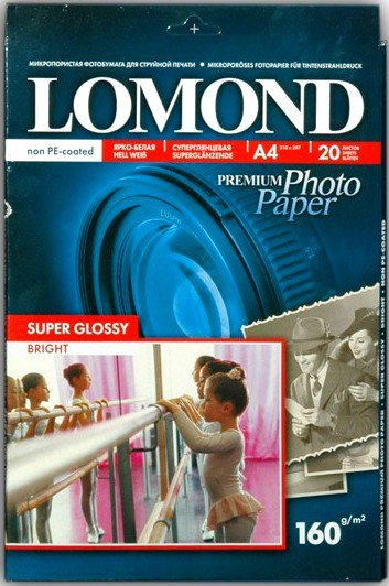 Бумага Lomond Super Glossy Bright Inkjet Photo Paper (1101110)