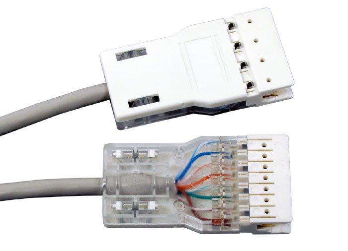 Патч-корд Hyperline PC-110-110-4P-C5e-1M-GY