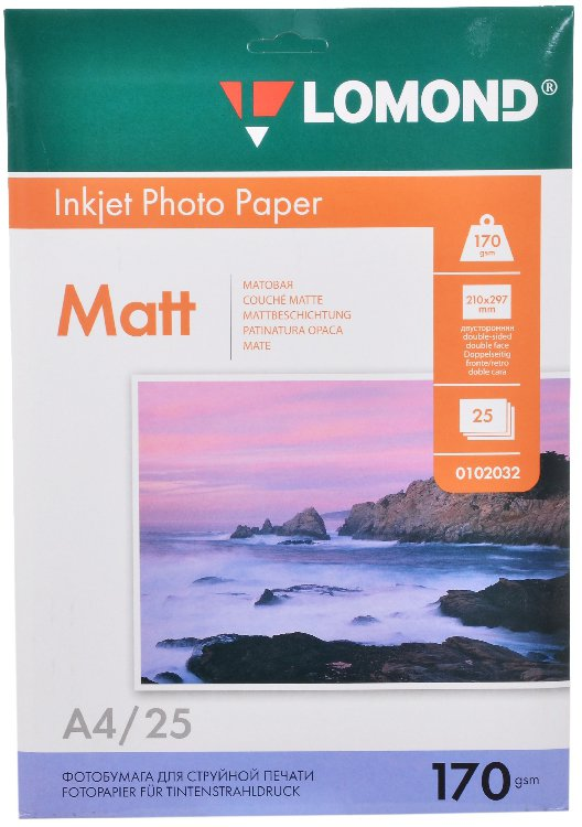 Бумага Lomond Matt/Matt Inkjet Photo Paper (0102032)