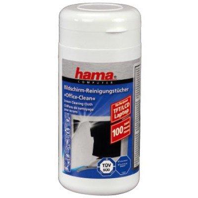 HAMA H-R1095850 чистящие салфетки для экранов, 100 шт влажные, в тубе 14x20 см