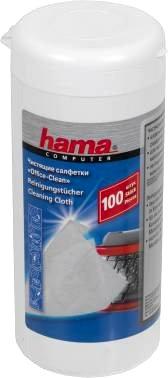HAMA H-R1084185 чистящие салфетки влажные, туба, 100 шт.