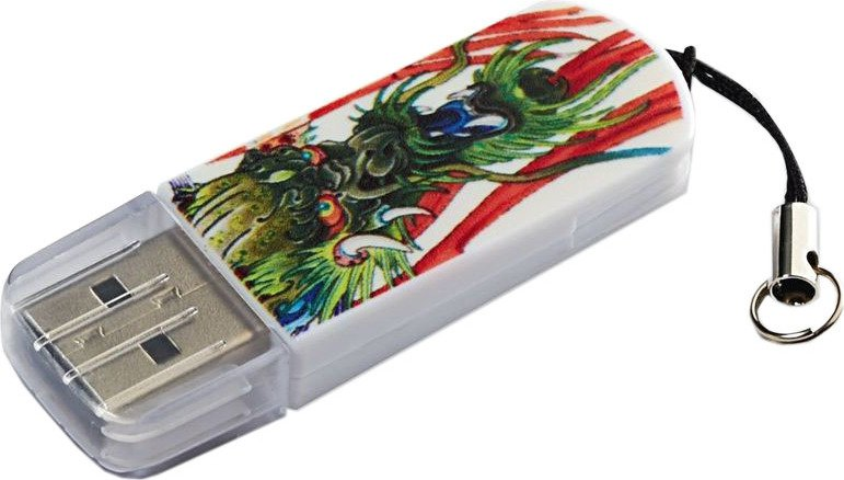 USB Flash накопитель 8Gb Verbatim Mini Tattoo Dragon (49884)