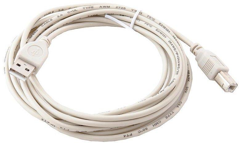 Кабель Gembird USB 2.0 A (M) - B (M), 3м (CC-USB2-AMBM-10)