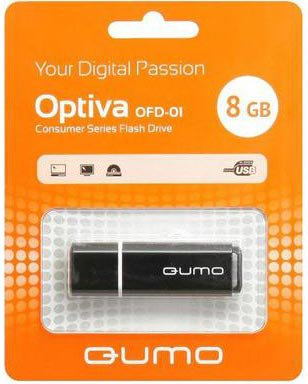 USB Flash накопитель 8Gb QUMO Optiva 01 Black