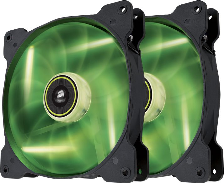 Вентилятор для корпуса Corsair SP140 Air Series LED Green High Static Pressure Twin Pack (CO-9050037-WW)