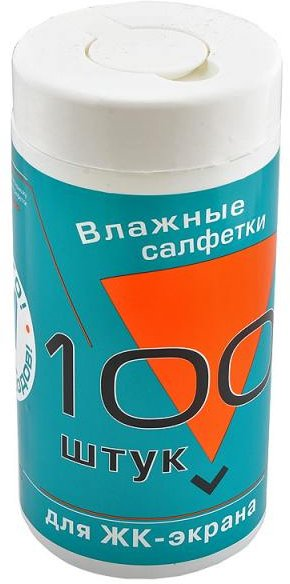 Konoos KBF-100 чистящие салфетки для ЖК-экранов в банке, 100 шт.