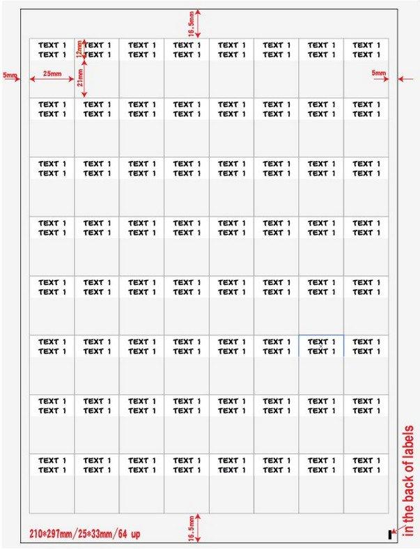 Наклейки Hyperline WMBL-25x33-A4L-WH