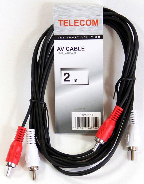 Кабель Telecom 2xRCA (M) - 2xRCA (M), 2м (TAV7158-2M)