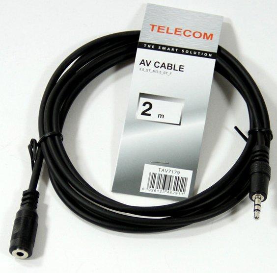 Кабель удлинительный Telecom 3.5 Jack (M) - 3.5 Jack (F) 2м (TAV7179-2M)