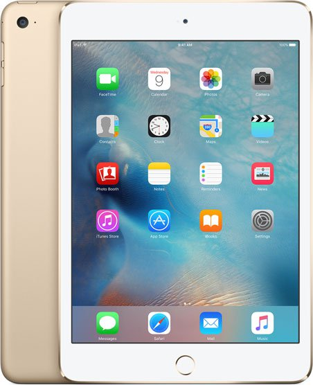 Планшетный компьютер Apple iPad mini 4 128Gb Wi-Fi + Cellular Gold (MK782RU/A)