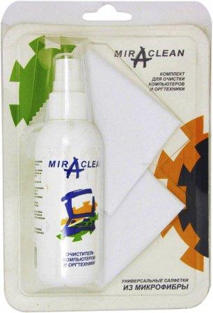 Miraclean 24153 чистящий набор для оргтехники (спрей 95мл + 2 салфетки из микрофибры 15см*15см)