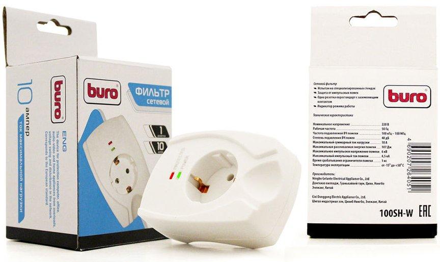 Сетевой фильтр Buro 100SH-W