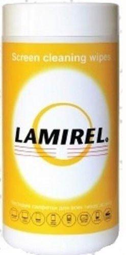 Fellowes LA-51440 чистящие салфетки Lamirel для пластмассовых и металлических поверхностей, 100шт
