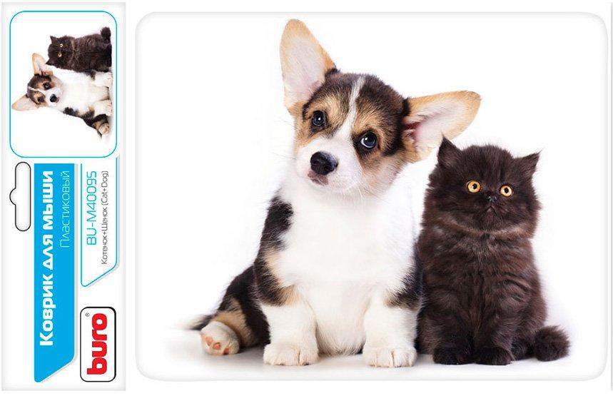 Коврик для мыши Buro BU-M40095 Котёнок и щенок