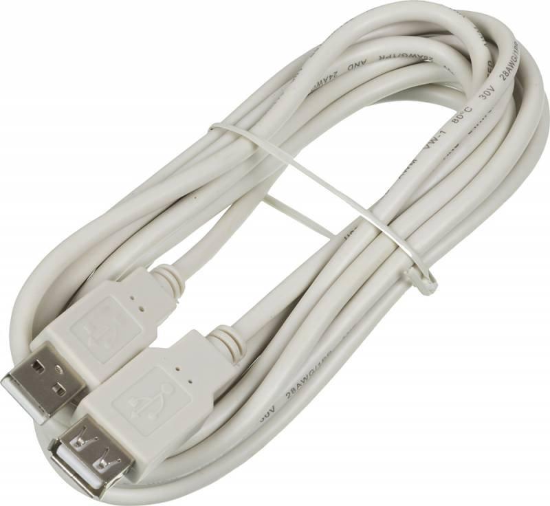 Кабель удлинительный Buro USB 2.0 A (M) - A (F), 3м (USB2.0-AM/AF-3)