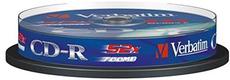 Диск CD-R Verbatim 700Mb 52x DataLife Cake Box (10шт) (43437)