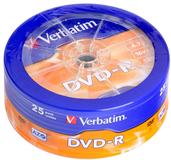 Диск DVD-R Verbatim 4.7Gb 16x AZO (25шт) (43730)