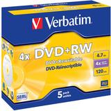 Диск DVD+RW Verbatim 4.7Gb 4x DataLife+ Jewel Case (5шт) (43229)