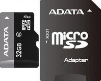 Карта памяти 32Gb MicroSD ADATA Class 10 + adapter (AUSDH32GUICL10-RA1)