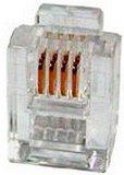 Телефонный разъем Hyperline PLUG-6P4C-P-C2