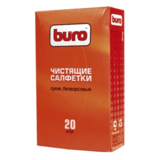 Buro чистящие салфетки сухие/безворсовые, 20 шт (BU-UDRY)