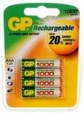 Аккумулятор GP (AAA, NiMH, 1000mAh, 4 шт)