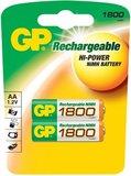 Аккумулятор GP (AA, NiMH, 1800mAh, 2 шт)