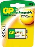 Аккумулятор GP (9V, NiMH, 200mAh, 1 шт)