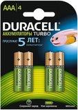 Аккумулятор Duracell (AAA, 850mAh, NiMH, 4 шт)