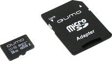 Карта памяти 16Gb MicroSD QUMO Class 10 + адаптер (QM16GMICSDHC10U1)