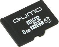 Карта памяти 8Gb MicroSD QUMO Class 10 (QM8GMICSDHC10NA)