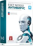 ESET NOD32 Антивирус + Bonus - лицензия на 1 год на 3ПК (NOD32-ENA-1220(BOX)-1-1)