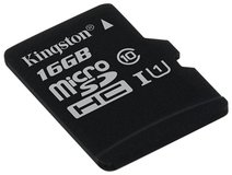 Карта памяти 16Gb MicroSD Kingston Canvas Select Class 10 (SDCS/16GBSP)