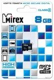 Карта памяти 8Gb MicroSD Mirex Class 4 (13612-MCROSD08)