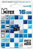 Карта памяти 16Gb MicroSD Mirex Class 4 (13612-MCROSD16)
