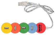 USB-концентратор Buro BU-HUB4-0.5-U2.0-SNAKE