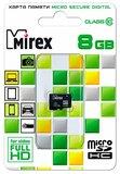Карта памяти 8Gb MicroSD Mirex Class 10 (13612-MC10SD08)